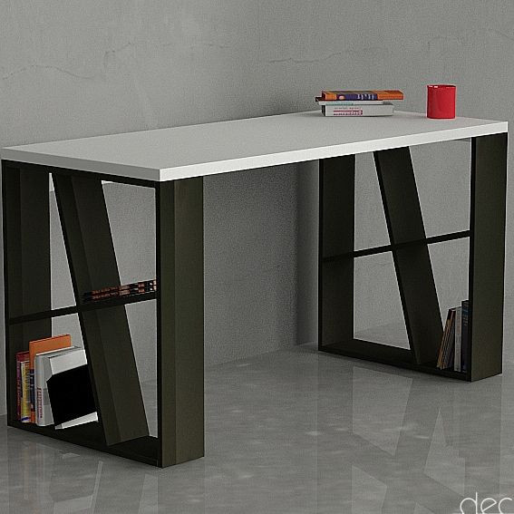 Honey Desk weiß/schwarz