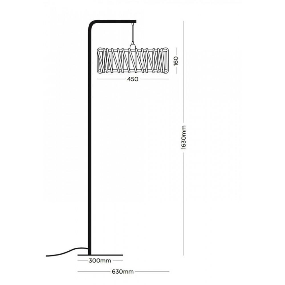 Stehleuchte Macaron 45 cm | Weiß / Gelb