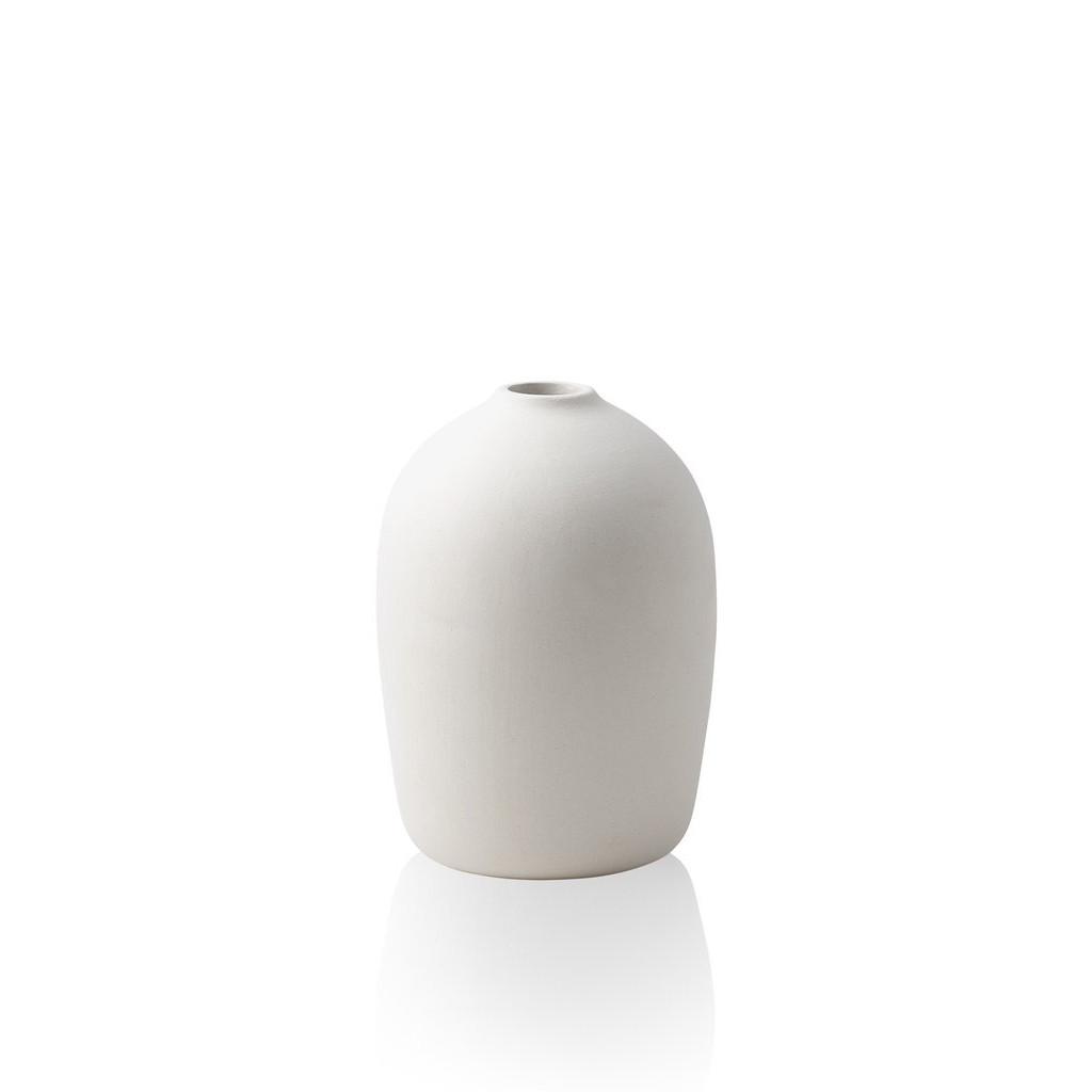 Vase Raw Small   White