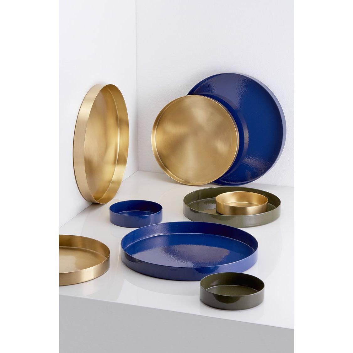 Round Trays Brass | Set of 3