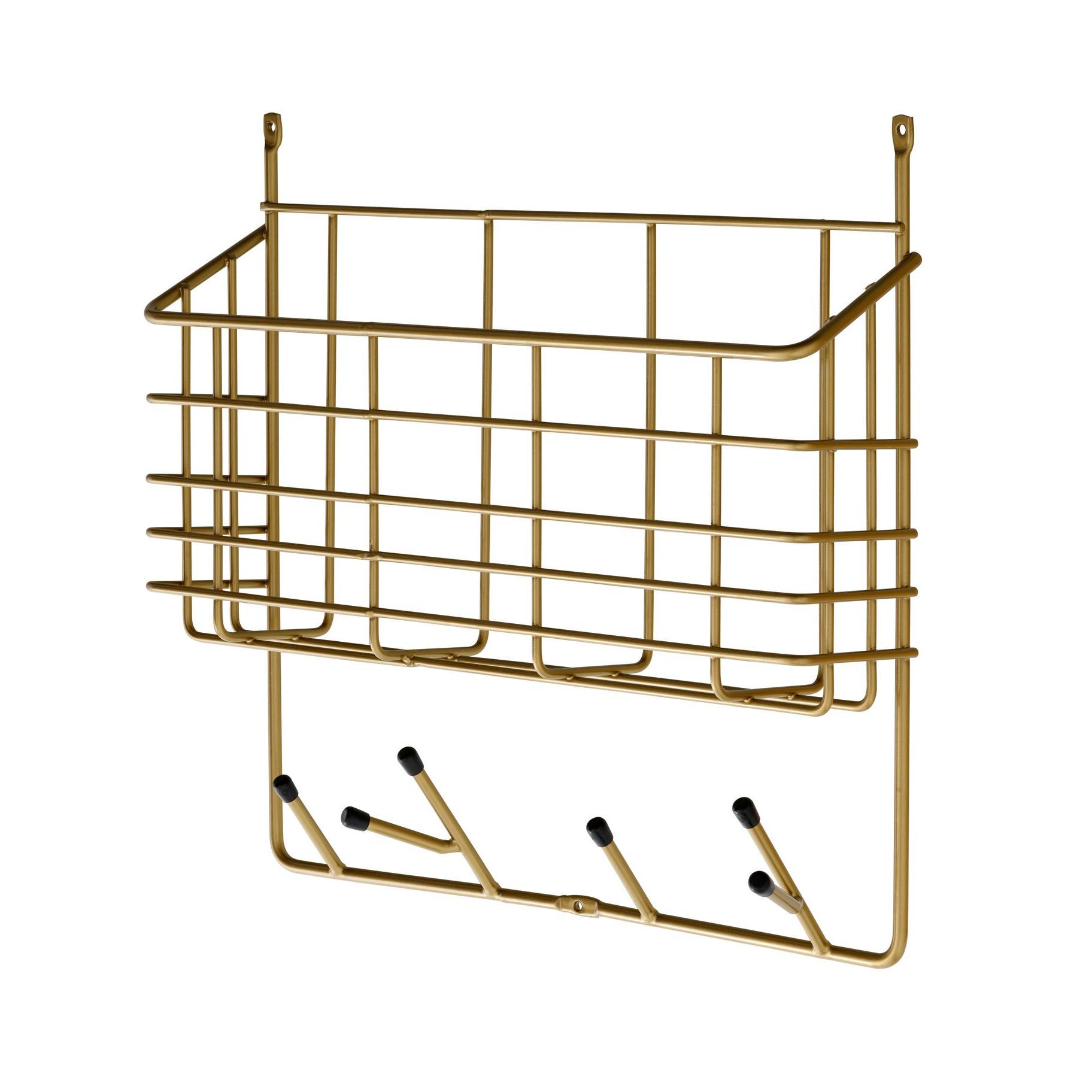 Mitten Shelf Small | Brass