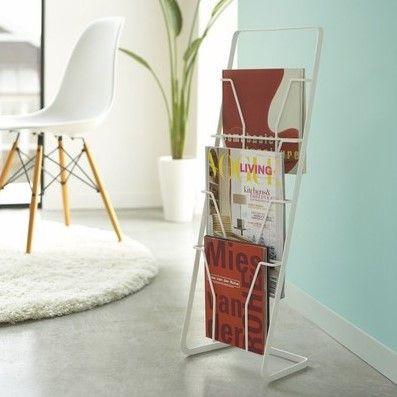Magazine Stand 4 Folders Tower | White