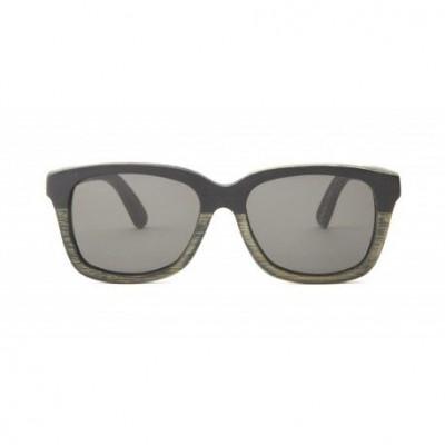 Madame Wooden Sunglasses   Bamboo Black