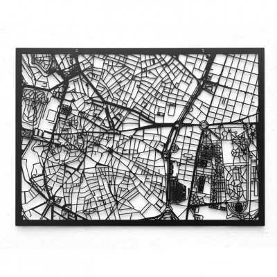Map Madrid   Black
