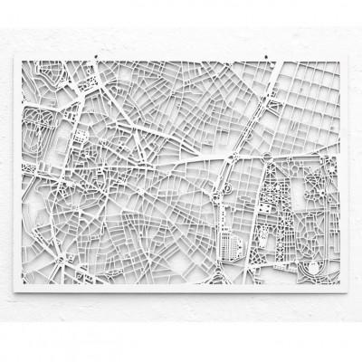Map Madrid   White