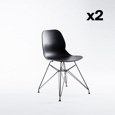 2er-Set Stühle Madrid   Schwarz