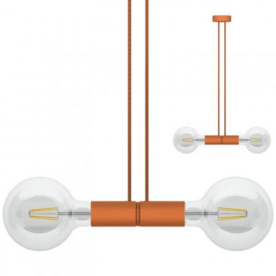 Doppelpendelleuchte Magnetico   Orange