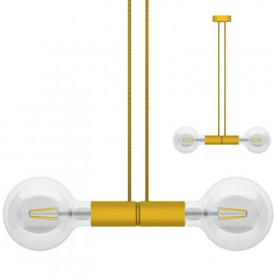 Doppelpendelleuchte Magnetico   Gelb