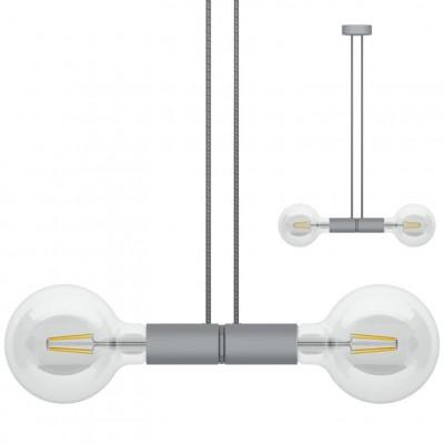 Doppelpendelleuchte Magnetico   Grau