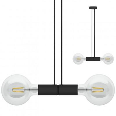 Doppelpendelleuchte Magnetico   Schwarz