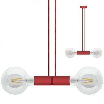 Doppelpendelleuchte Magnetico   rot