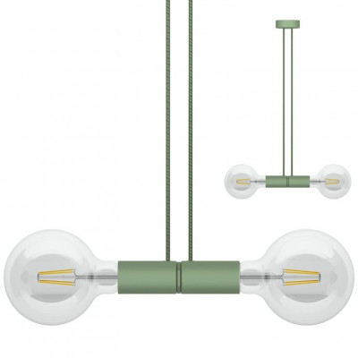 Doppelpendelleuchte Magnetico   Grün