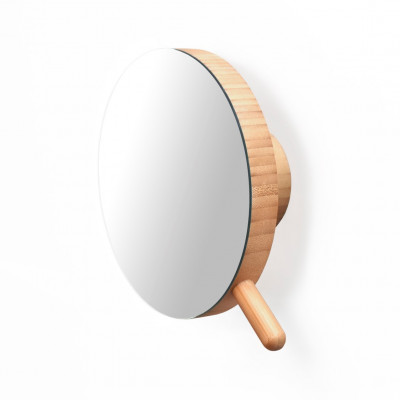 Lupen-Wandspiegel | Bambus