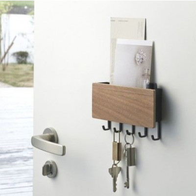 Magnetic Keyhook & Holder Rin | Brown