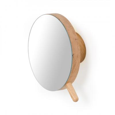 Lupen-Wandspiegel Slimline | Helles Holz