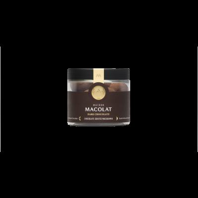 Schokoladenüberzogene Macadamia 100 g | Dunkle Schokolade