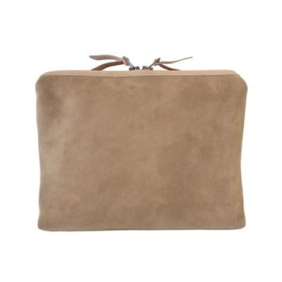 Large Organizer Pouch | Khaki Horween Suede