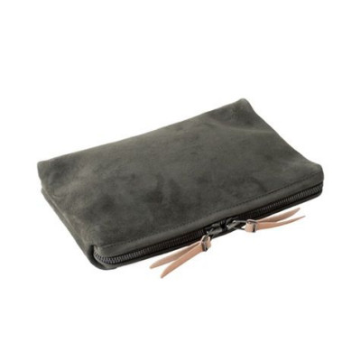 Small Organizer Pouch | Moss Horween Suede