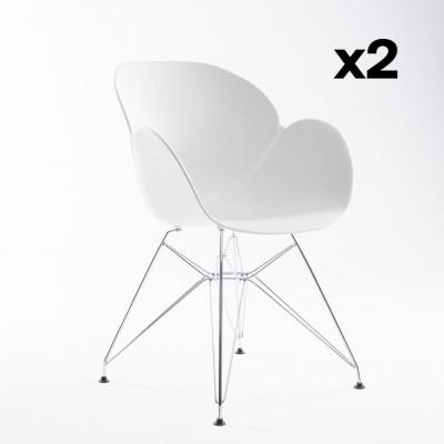 2-er Set Stühle Malaga | Weiß