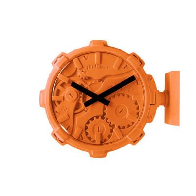 Wanduhr Mal Stereo | Orange