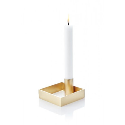 Candle Holder Edge | Brass