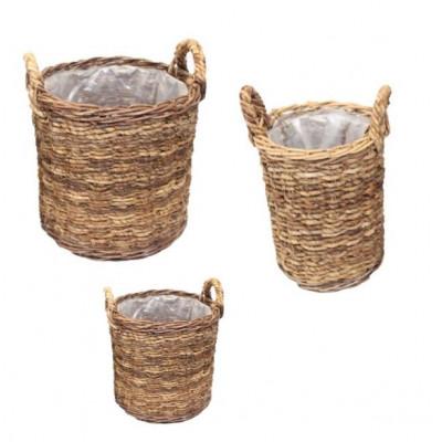 Basket Abaca Set of 3 | Natural