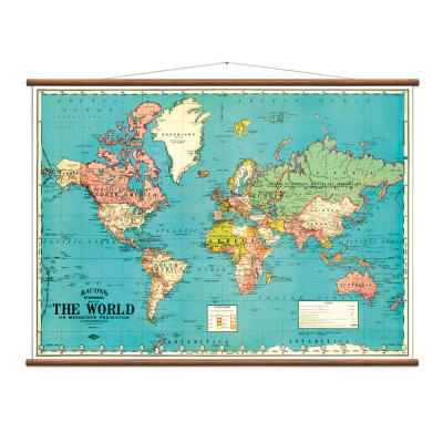 Vintage Weltkarte