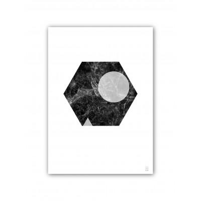 50x70 Druck | Marmor Marvel 9