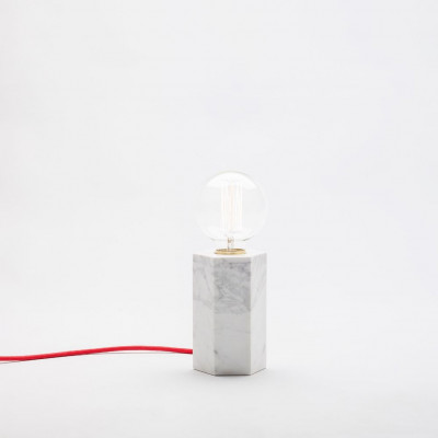 Marmorierte Hex-Lampe