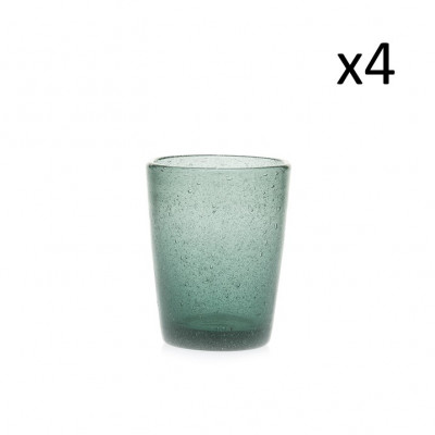 Glas-Marco-Polo 4er-Set   Eisblau