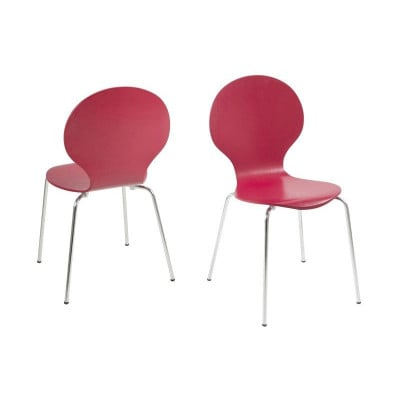 Marcus Esszimmerstühle 4er-Set | Dunkelrot