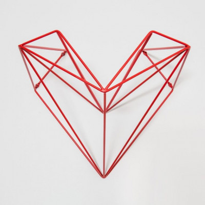 Heart Bike Holder   Red