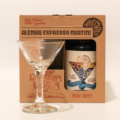 Urbaner Pe-mixed Craft-Cocktail 500 ml   Espresso Martini & Tumbler Glas