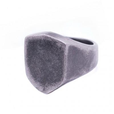 Aged Shield Ring