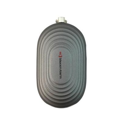 Tragbare Paniktaste + LED-Licht | Mattgrau