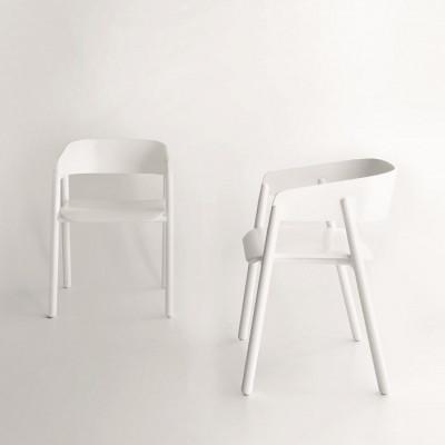 Mava Stuhl   Weiß lackiert