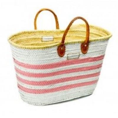 Lines Basket Maxi   White & Pink