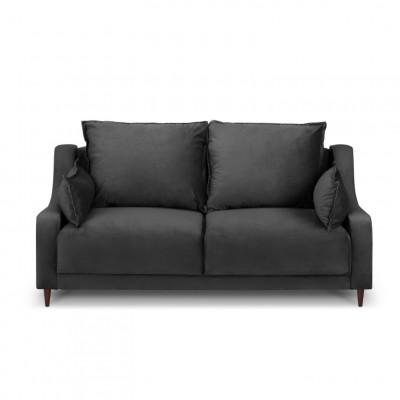 2-Sitzer-Sofa Samt Freesia | Dunkelgrau