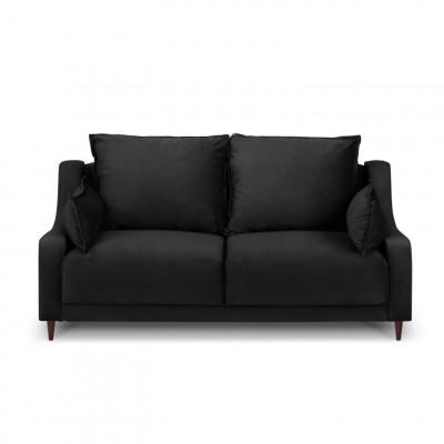 2-Sitzer-Sofa Samt Freesia | Schwarz