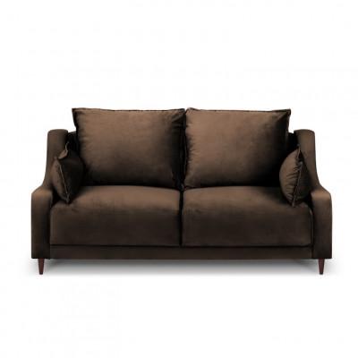 2-Sitzer-Sofa Samt Freesia | Braun