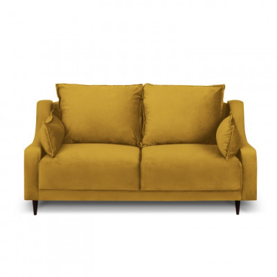 2-Sitzer-Sofa Samt Freesia | Gelb