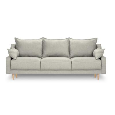 3-Sitzer-Schlafsofa mit Aufbewahrungsbox Freesia | Hellgrau