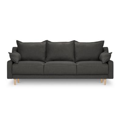 3-Sitzer-Schlafsofa mit Aufbewahrungsbox Freesia | Dunkelgrau