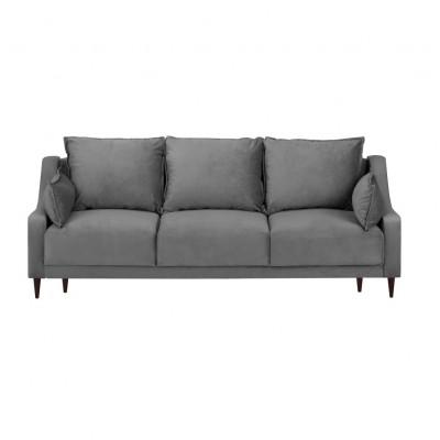 3-Sitzer-Schlafsofa Samt Freesia | Grau