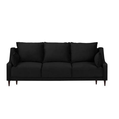 3-Sitzer-Schlafsofa Samt mit Aufbewahrungsbox Freesia | Schwarz
