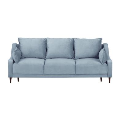 3-Sitzer-Schlafsofa Samt mit Aufbewahrungsbox Freesia | Hellblau