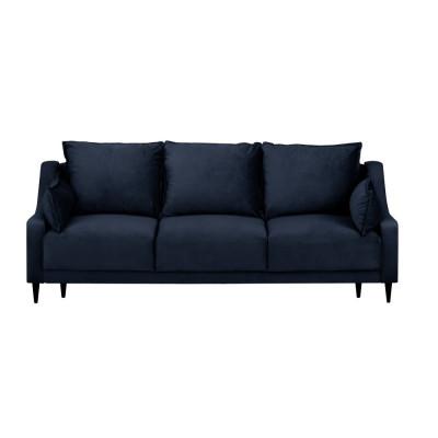 3-Sitzer-Schlafsofa Samt mit Aufbewahrungsbox Freesia | Dunkelblau