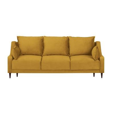 3-Sitzer-Schlafsofa Samt mit Aufbewahrungsbox Freesia | Gelb
