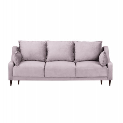 3-Sitzer-Schlafsofa Samt mit Aufbewahrungsbox Freesia | Rosa