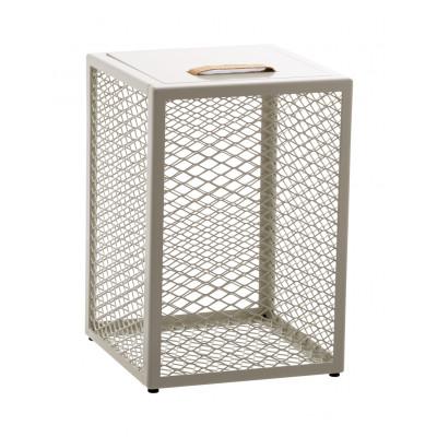 Beistelltisch / Schemel / Aufbewahrungskiste The Cube | Weiß